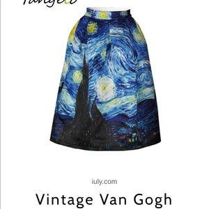 Dresses & Skirts - Van Gogh vintage skirt